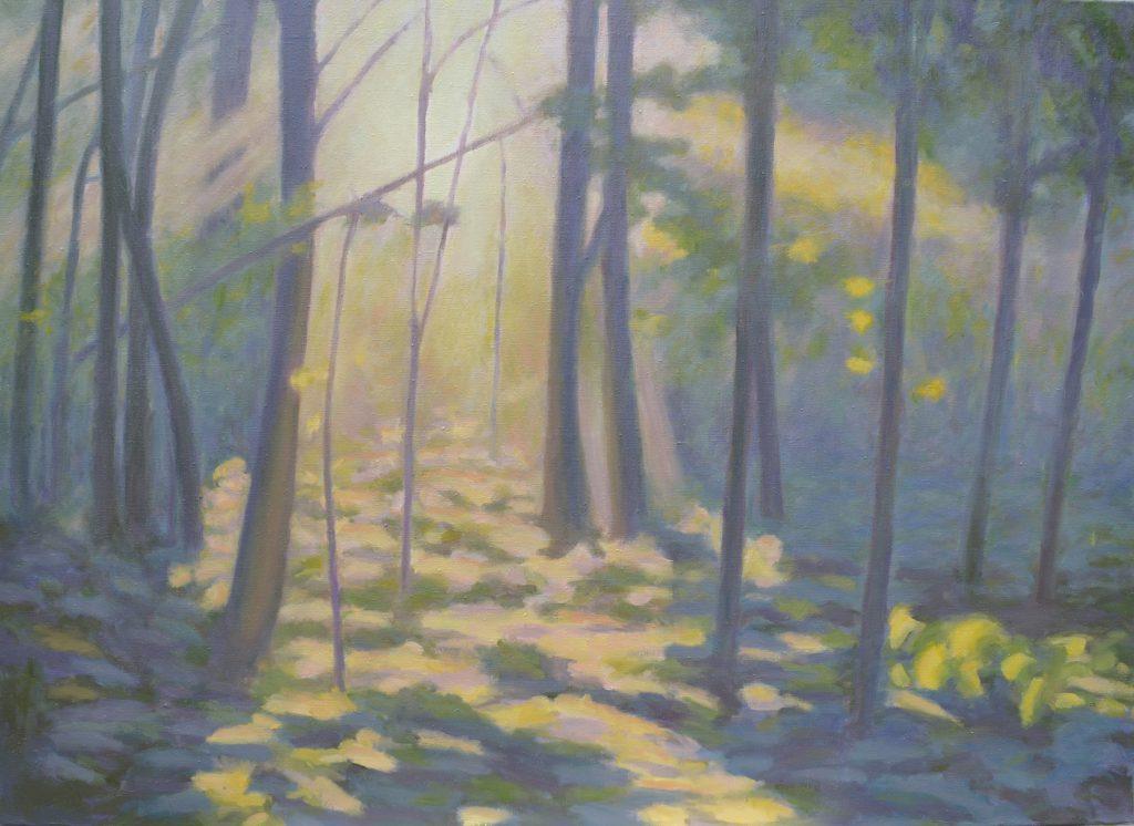 Waldstück im Gegenlicht, 2017, 140 x 100