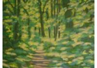 10 - Waldweg am Vormittag - 140x100 - © 2011 by H. W. Thurmann