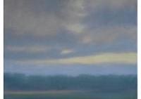 22 - Waldrand mit Wolkenhimmel - 80x60 - © 2012 by H. W. Thurmann