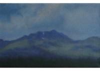 5 - Berg mit dunklen Wolken - 50x30 - © 2010 by H. W. Thurmann