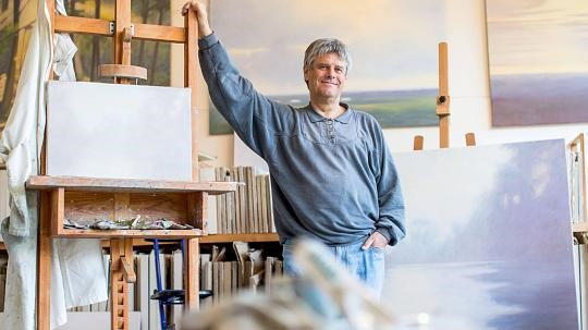 Hans Werner Thurmann n seinem Atelier