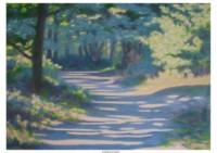13 - Waldweg am Morgen - 140x100 - © 2008 by H. W. Thurmann- VERKAUFT