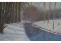 17 - Schnee am Moersbach - 80x50 - © 2010 by H. W. Thurmann