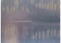 25 - Nebel am Wasser - 64x53 - © 2014 by H. W. Thurmann