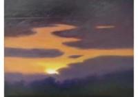 6 - Sonnenuntergang mit Wolken - 45x35 - © 2007 by H. W. Thurmann