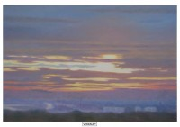 8 - Sonnenaufgang über Beek - 120x80 - © 2008 by H. W. Thurmann - VERKAUFT