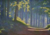 Waldweg bei Morgensonne - 80x50 - © 2017 H. W. Thurmann