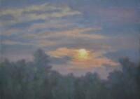 Abendhimmel - 29x21 - Holz